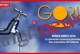 Gori - Bonus idrico 2017